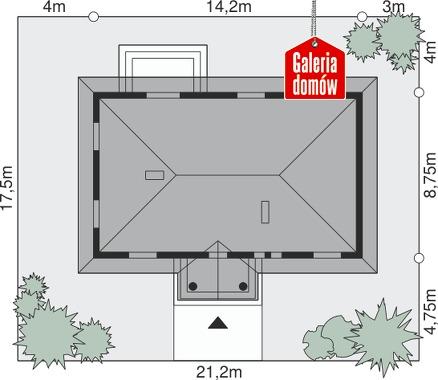 Dom przy Klonowej - wymiary na działce