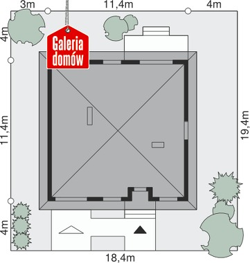 Dom przy Niezapominajek - wymiary na działce