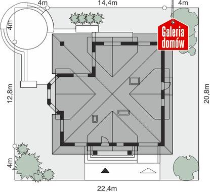 Dom przy Szmaragdowej - wymiary na działce