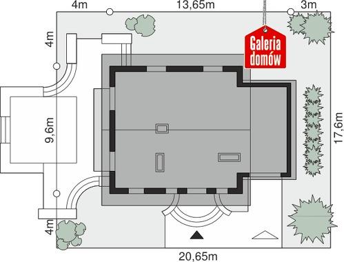 Dom przy Maciejkowej - wymiary na działce