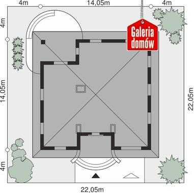 Dom przy Rubinowej - wymiary na działce