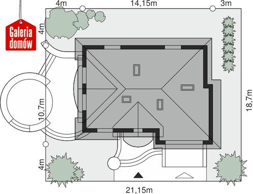 Dom przy Słonecznikowej - wymiary na działce