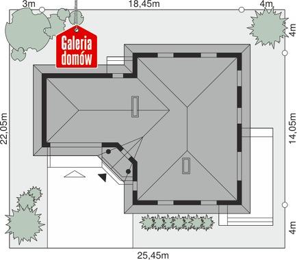 Dom przy Jaśminowej - wymiary na działce