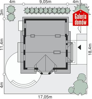 Dom przy Kalinowej 3 - wymiary na działce