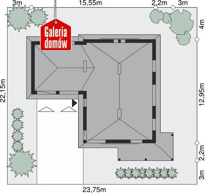 Dom przy Malowniczej 3 - wymiary na działce
