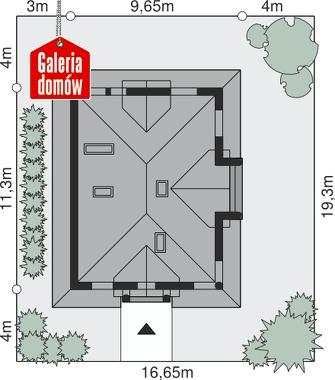 Dom przy Sielskiej 3 - wymiary na działce