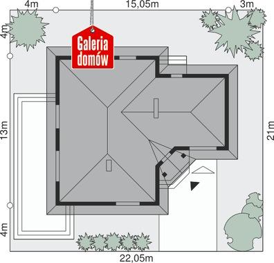 Dom przy Bajecznej 2 - wymiary na działce