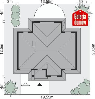 Dom przy Altanowej 2 - wymiary na działce