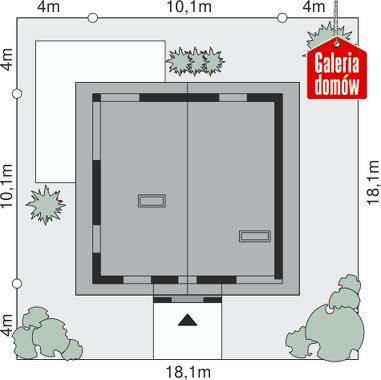 Dom przy Cyprysowej 7 - wymiary na działce