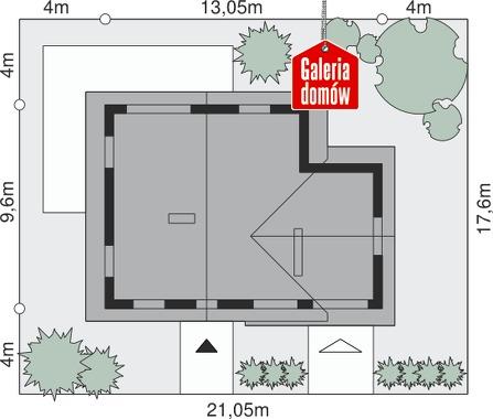 Dom przy Cyprysowej 9 - wymiary na działce