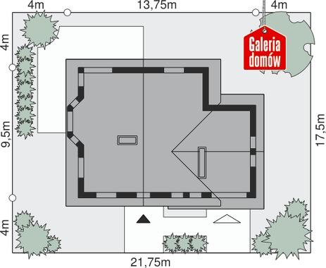 Dom przy Cyprysowej 11 - wymiary na działce