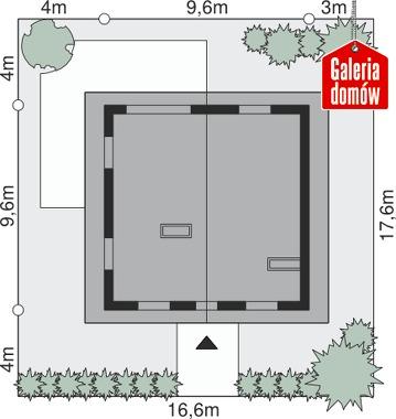 Dom przy Cyprysowej 12 - wymiary na działce