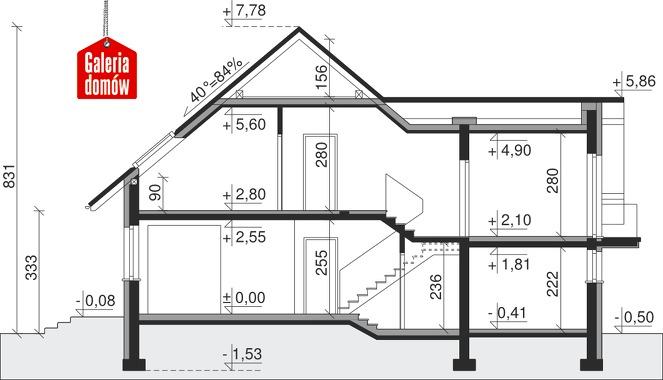 Dom przy Cyprysowej 17 - przekrój