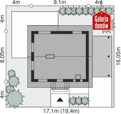 Dom przy Imbirowej - wymiary na działce