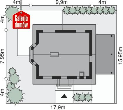Dom przy Imbirowej 2 - wymiary na działce