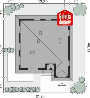 Dom przy Słonecznej 3 - wymiary na działce