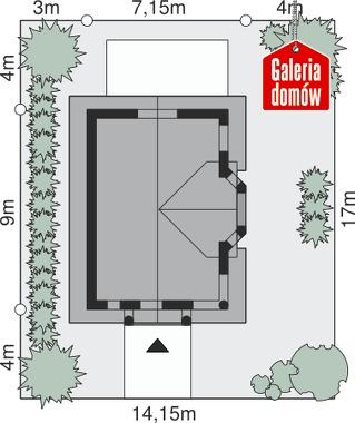 Dom przy Waniliowej - wymiary na działce