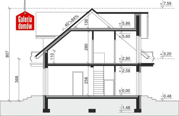 Dom przy Modrzewiowej 11 - przekrój