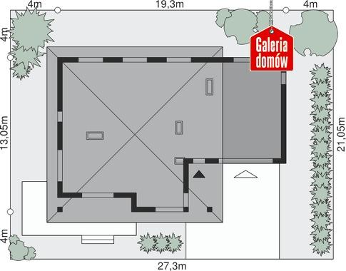 Dom przy Makowej 4 - wymiary na działce