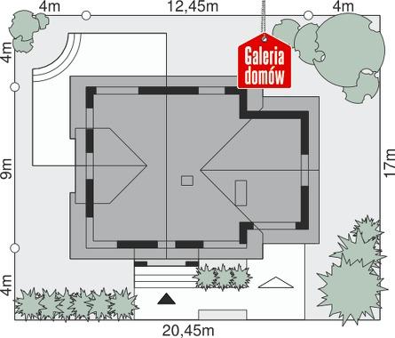 Dom przy Cyprysowej 31 - wymiary na działce