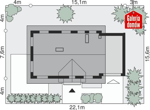 Dom przy Alabastrowej 2 - wymiary na działce