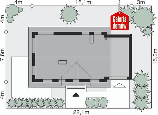 Dom przy Alabastrowej 4 - wymiary na działce