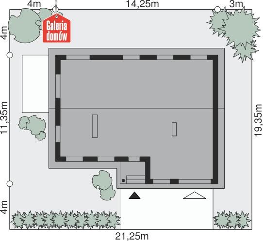 Dom przy Przyjemnej 5 - wymiary na działce