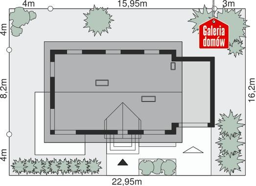 Dom przy Alabastrowej 6 - wymiary na działce