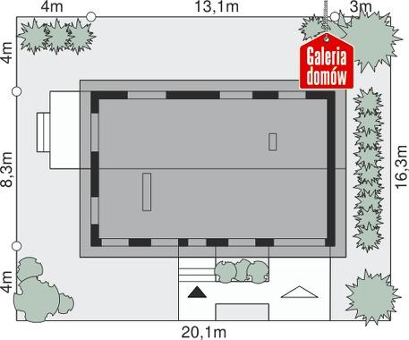 Dom przy Przyjemnej 8 - wymiary na działce