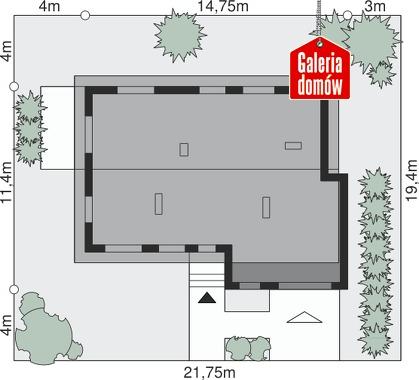 Dom przy Przyjemnej 10 - wymiary na działce