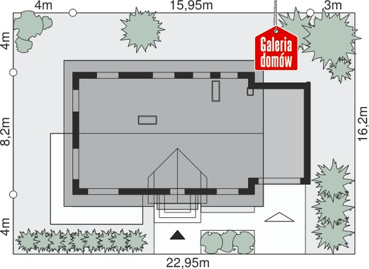 Dom przy Alabastrowej 8 - wymiary na działce