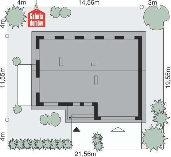 Dom przy Przyjemnej 7 bis - wymiary na działce