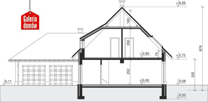 Dom przy Malowniczej 3 NF40 - przekrój