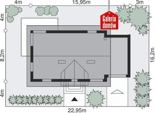 Dom przy Alabastrowej 9 - wymiary na działce