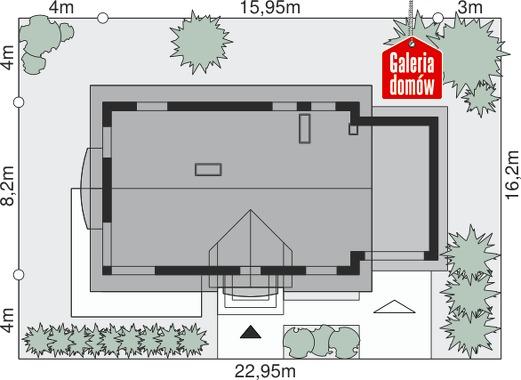 Dom przy Alabastrowej 17 - wymiary na działce