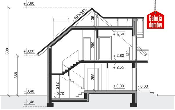 Dom przy Alabastrowej 18 - przekrój