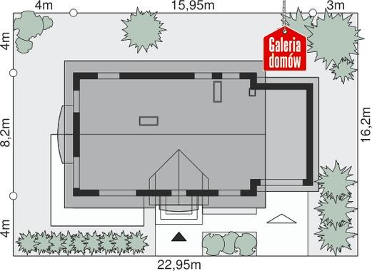 Dom przy Alabastrowej 18 - wymiary na działce