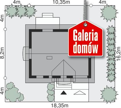 Dom przy Alabastrowej 22 - wymiary na działce