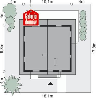 Dom przy Cyprysowej - wymiary na działce