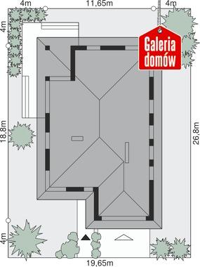 Dom przy Pastelowej 3 - wymiary na działce