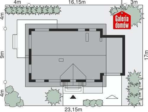 Dom przy Alabastrowej 24 - wymiary na działce