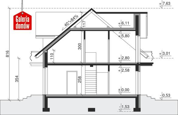 Dom przy Modrzewiowej 3 - przekrój