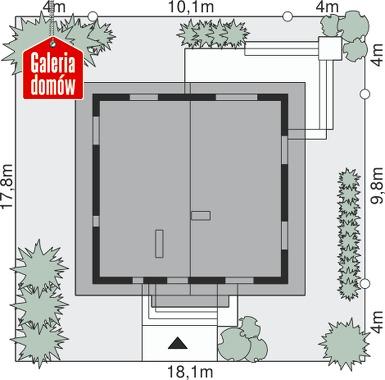Dom przy Cytrynowej - wymiary na działce