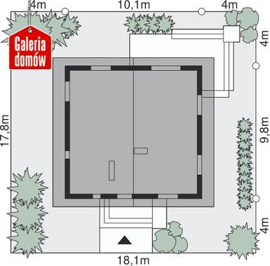 Dom przy Cytrynowej 3 - wymiary na działce