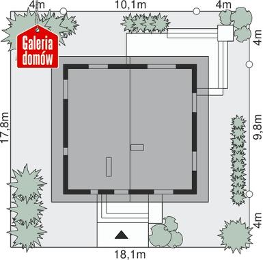 Dom przy Cytrynowej 4 - wymiary na działce