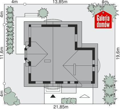 Dom przy Pomarańczowej 2 - wymiary na działce