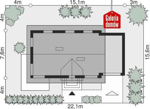 Dom przy Alabastrowej 27 - wymiary na działce