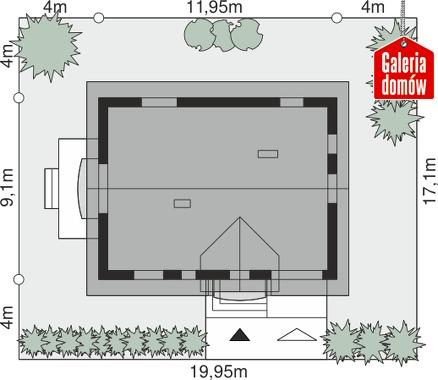Dom przy Alabastrowej 34 - wymiary na działce