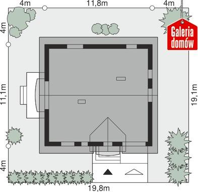 Dom przy Alabastrowej 36 - wymiary na działce