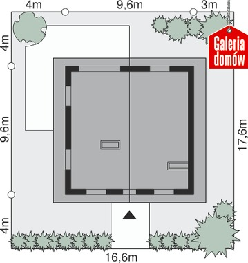 Dom przy Cyprysowej 44 - wymiary na działce